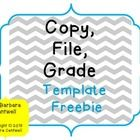 Great for teachers to easily put together a Grade, Copy, File organization system!   Enjoy, Barbara Cantwell  P.S. Don't forget to leave a rating :...