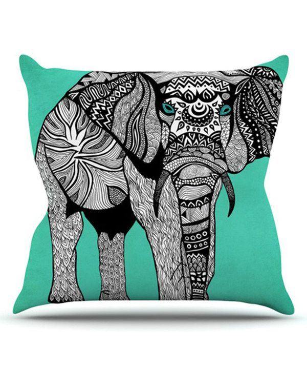 Look at this Elephant of Namibia Color Throw Pillow on #zulily today!