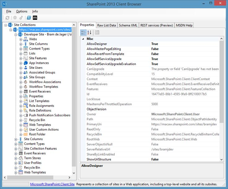 SharePoint Client Browser for SharePoint 2010 and 2013 http://spcb.codeplex.com/