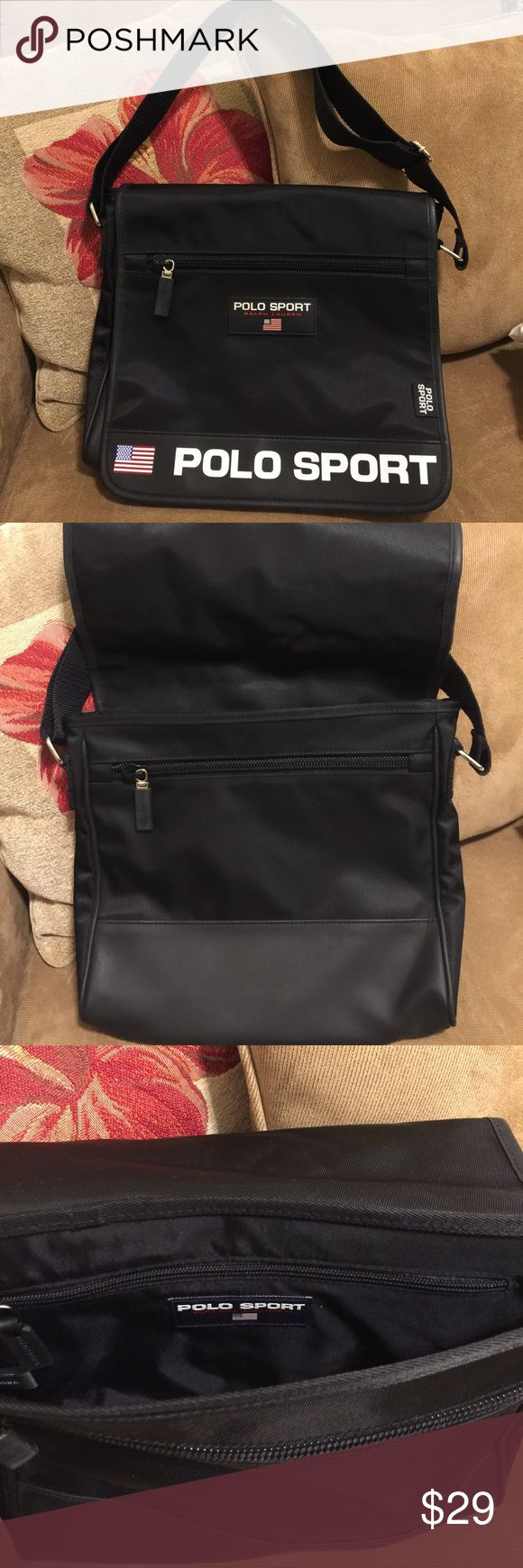 NWOT Vintage Polo Sport Ralph Lauren Black Bag New without tag Vintage Polo Sport Ralph Lauren black bag. Canvas. Adjustable strap. Silver metal. Zipper in front and inside underneath front cover. And one zipper pocket inside bag. Smoke-free/pet free home. No international shipping. Thank you so much for looking!😊 Polo by Ralph Lauren Bags Crossbody Bags