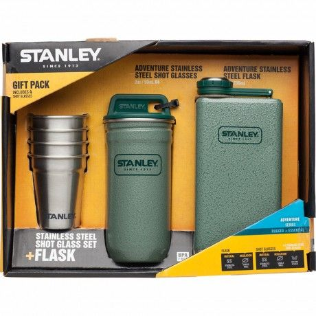 Stanley Adventure Steel Shots + Flask Gift Set. Going camping? #stanley #camping #flask