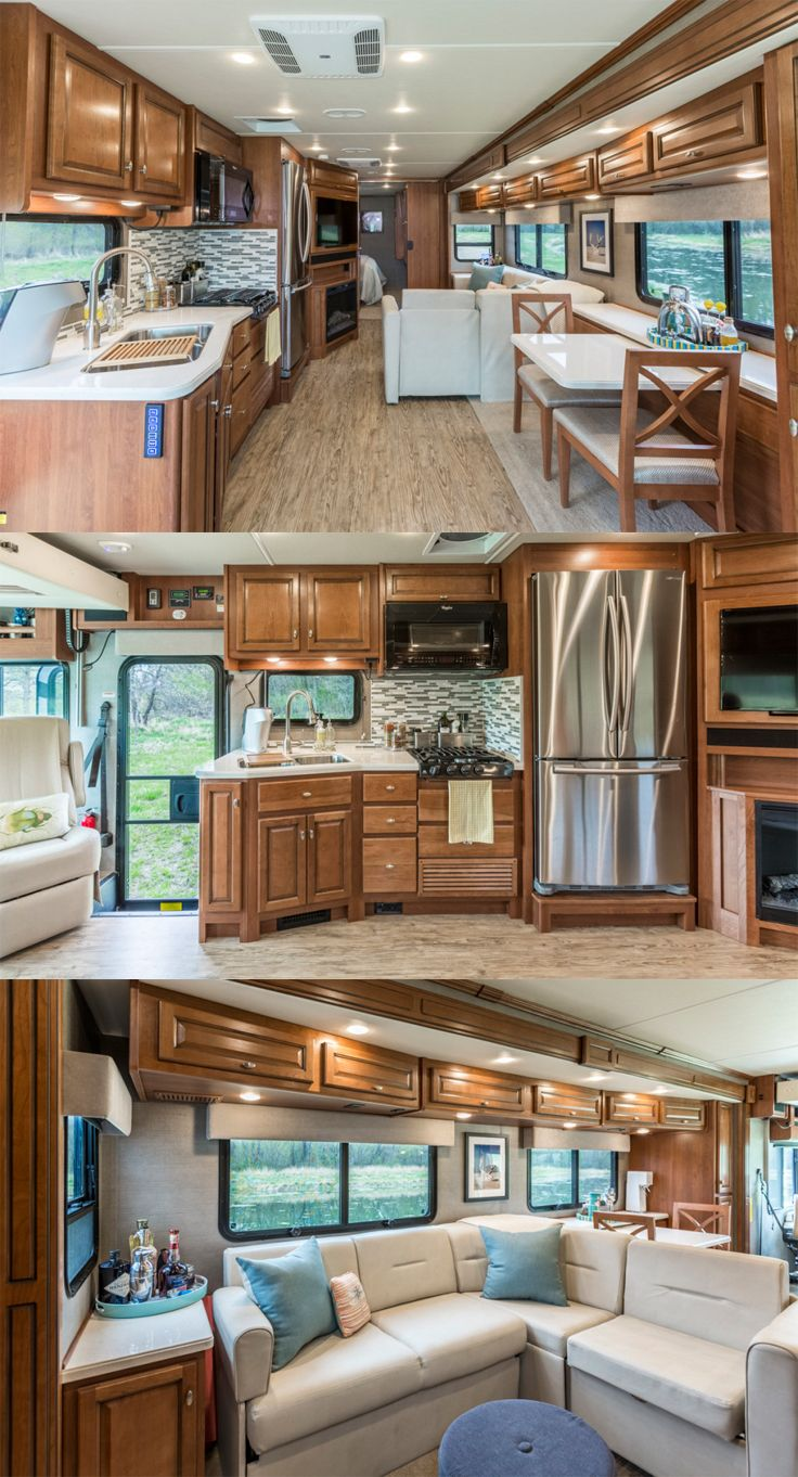 check out the customized interior of gone with the wynns new bounder rv - Camper Design Ideas