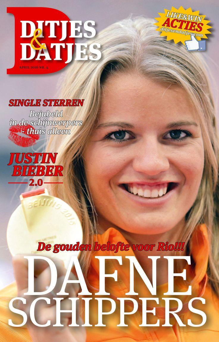 Cover Ditjes & Datjes 4, 2016 met de gouden belofte voor Rio, Dafne Schippers!!! #DitjesDatjes #DafneSchippers