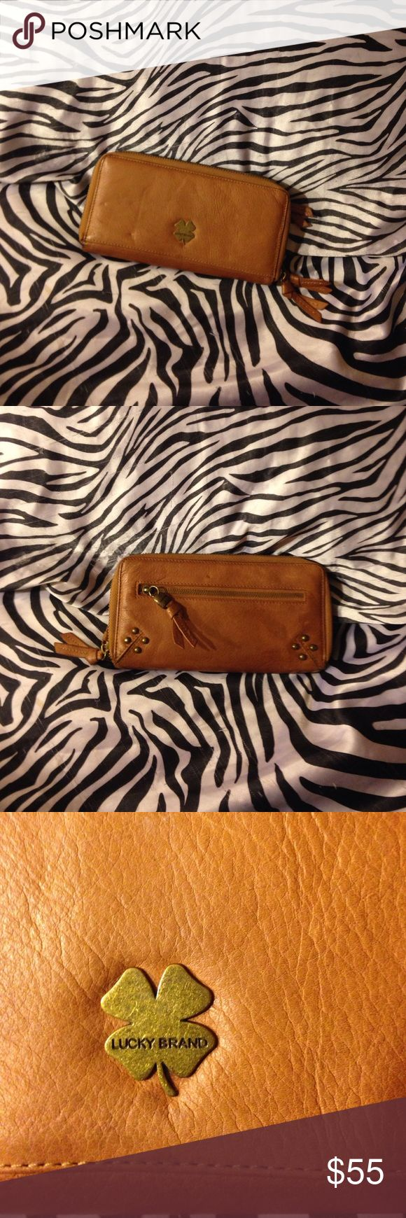 Brown LUCKY BRAND Wallet Beautiful LUCKY BRAND Wallet. Brown color. In great condition , any flaws u can see in pictures . Clean on inside and outside. Lucky Brand Bags Wallets