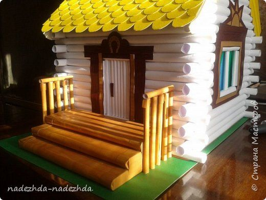 <p>How to make house from paper tube Here's a rustic cabin I did — when I saw in the textbook mysonin house from paper tubeartand decided to make a detailed class The paper curls into a tube  First on the sides –IN THE CENTER AND THEN ALL — ducts WHOLE  STICKS TO MANY […]</p>
