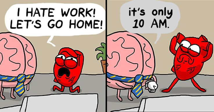 Heart Vs. Brain: Funny Webcomic Shows Constant Battle Between Our Intellect And Emotions | Bored Panda