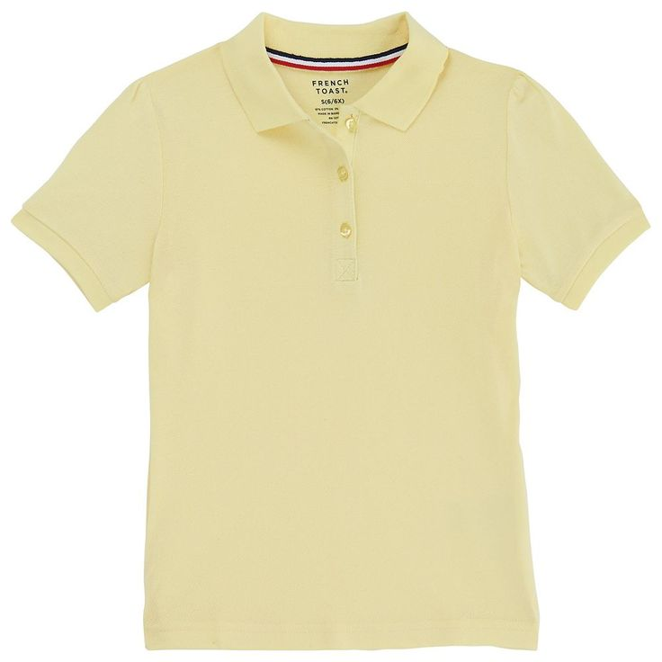 Girls 4-20 & Plus Size French Toast School Uniform Stretch Pique Polo Shirt, Size: 14-16, Yellow