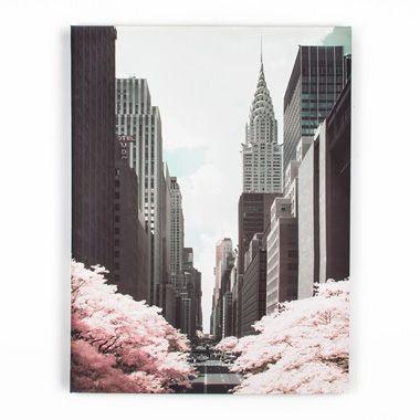 Graham & Brown canvas 42nd Street - roze - 60x80 cm