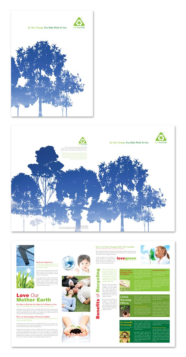 environmental non profit brochure template http www dlayouts com