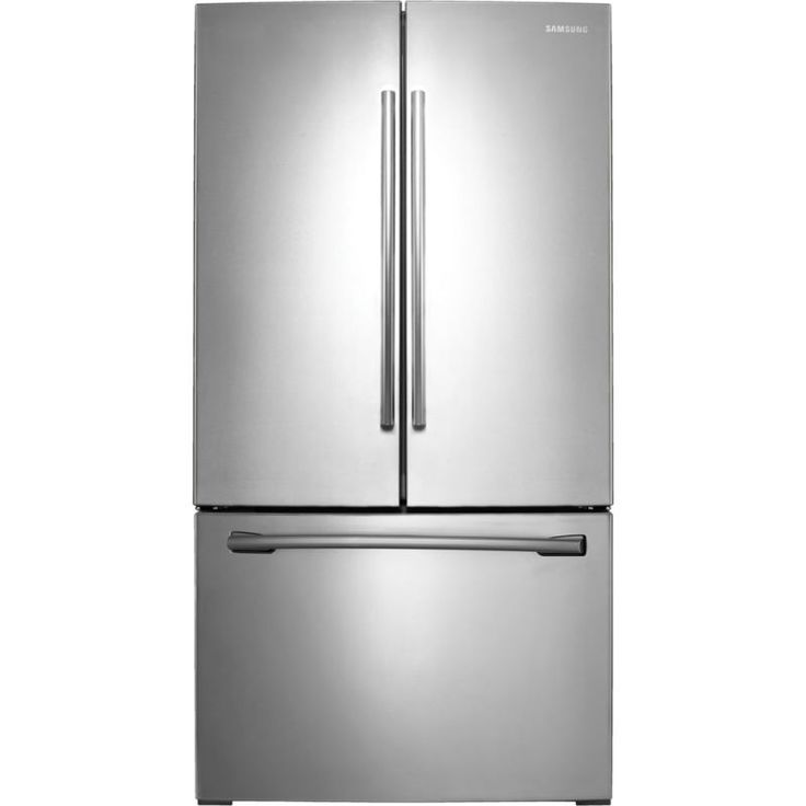 Samsung RF260BEAE 26 Cu. Ft. French Door Refrigerator with Filtered Ice Maker Stainless Steel Refrigerators French Door Fridge