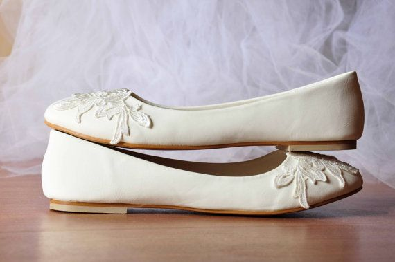 Wedding flats lace wedding flats venise lace shoes lace bridal shoes lace flats wedding flats shoes wedding flat shoes SIZE US 6.5