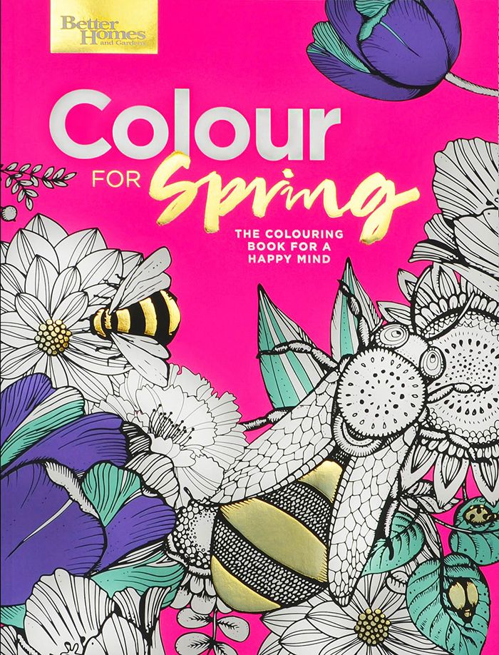 Better Homes and Gardens Colouring in Book for Adults designed by Jane Abma. #CreativeDirection #Design #ColouringIn