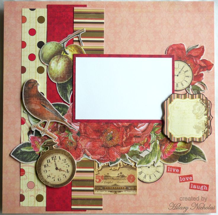 Layout Kit with Kaisercraft's Remember Me and Curiosity collections, created by Hilary Nicholas