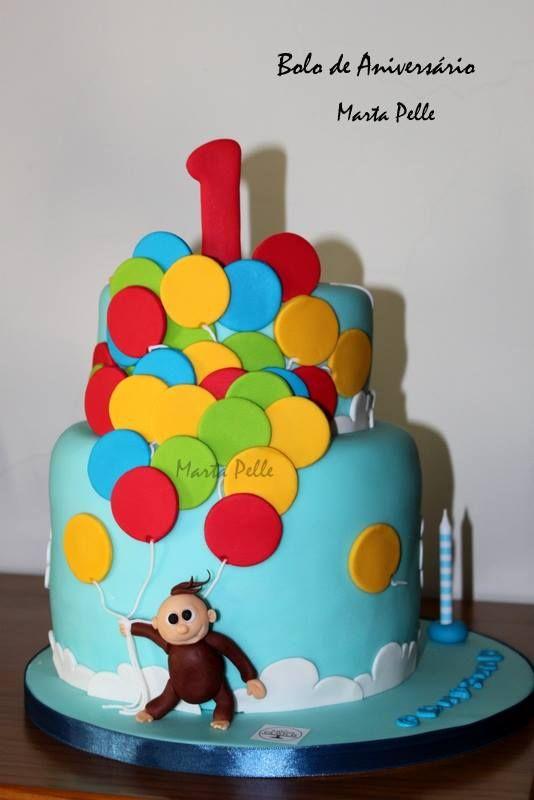 fondant monkey cake - The Cake Lovers