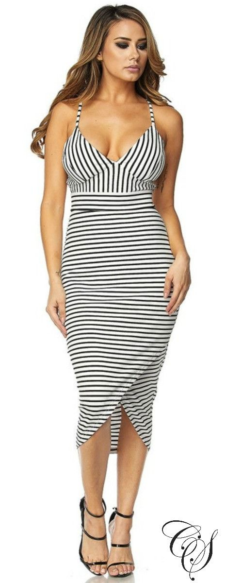 Genevieve Striped Bodycon Dress