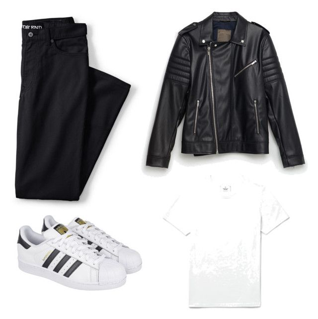 """"""""""" by the-reyd on Polyvore featuring Reigning Champ, Zara, Lands' End, adidas, men's fashion и menswear"""