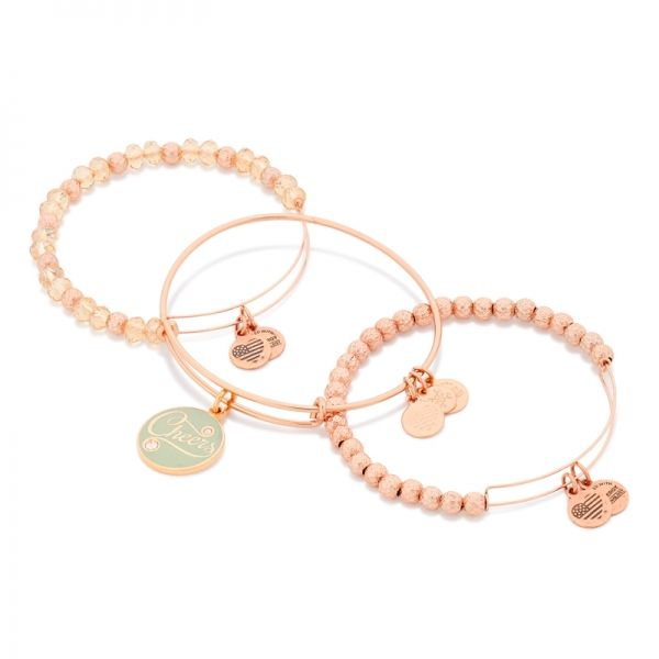 Cheers to positive energy and this special opportunity to share it with loved ones! Shop the Champagne Cheers Set of 2 Charm Bangles at ALEX AND ANI!