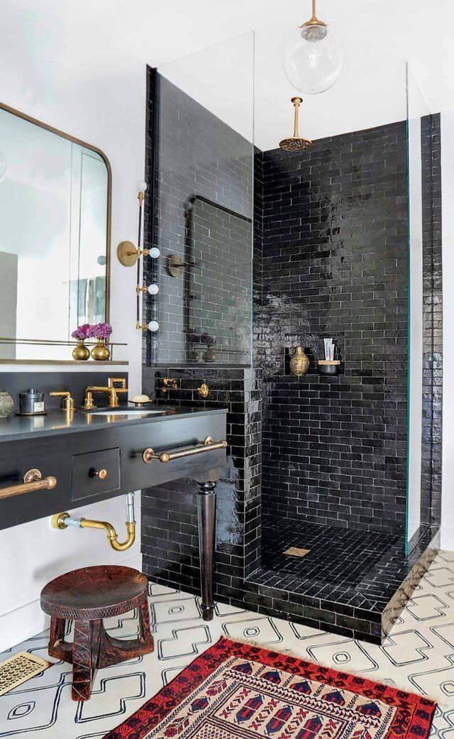 Bathrooms don't only have to be filled with subway tile. Colored tiles are an option that expand and elevate the style of a room that doesn't normally get a lot of praise. Here's inspiration for how to upgrade your bathroom at home.