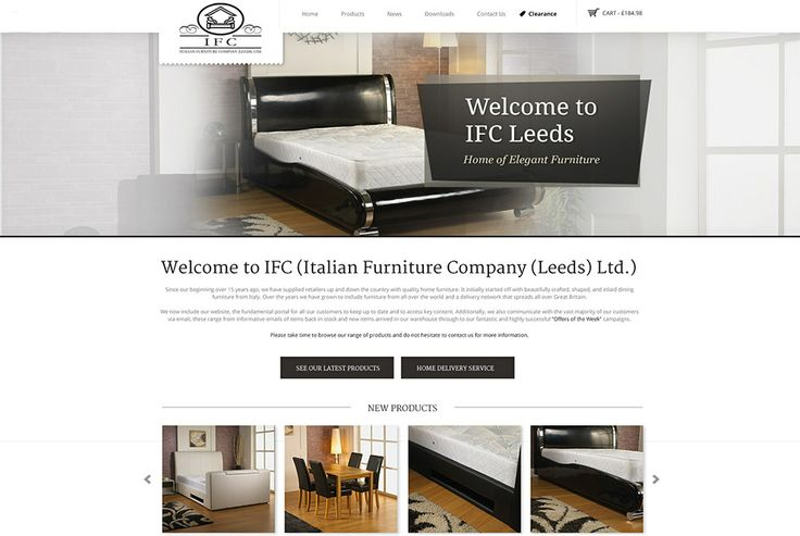 IFC Leeds is an E-commerce furniture wholesalers, who target business-to-business customers. The clear use of key prompts notifies visitors that the website is business-to-business. http://www.websquare.co.uk/our-work/projects/ifc-leeds-furniture/ #design #development #ecommerce