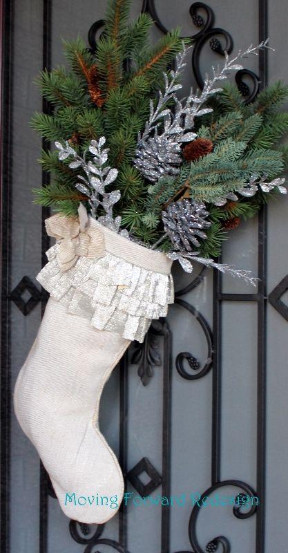 Christmas Door Stockings #blogherholidays