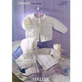 Matinee Coats in Sirdar Snuggly DK (1579) £2.99
