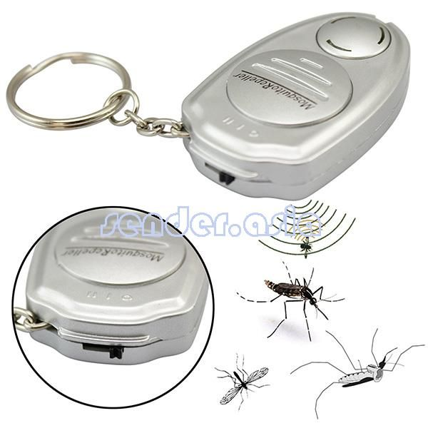 Electronic Ultrasonic Mosquito Insect Repeller Keychain