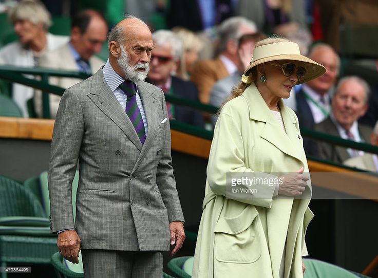 Prince and Princess Michael of Kent during day nine of the Wimbledon Lawn Tennis Championships at the All England Lawn Tennis and Croquet Club on July 8, 2015 in London, England.