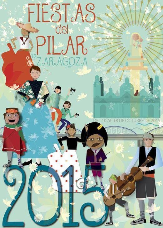 Carteles Alternativos Pilar 2015. Titulo: Punto de Encuentro. Autora: Carmen Lafarga