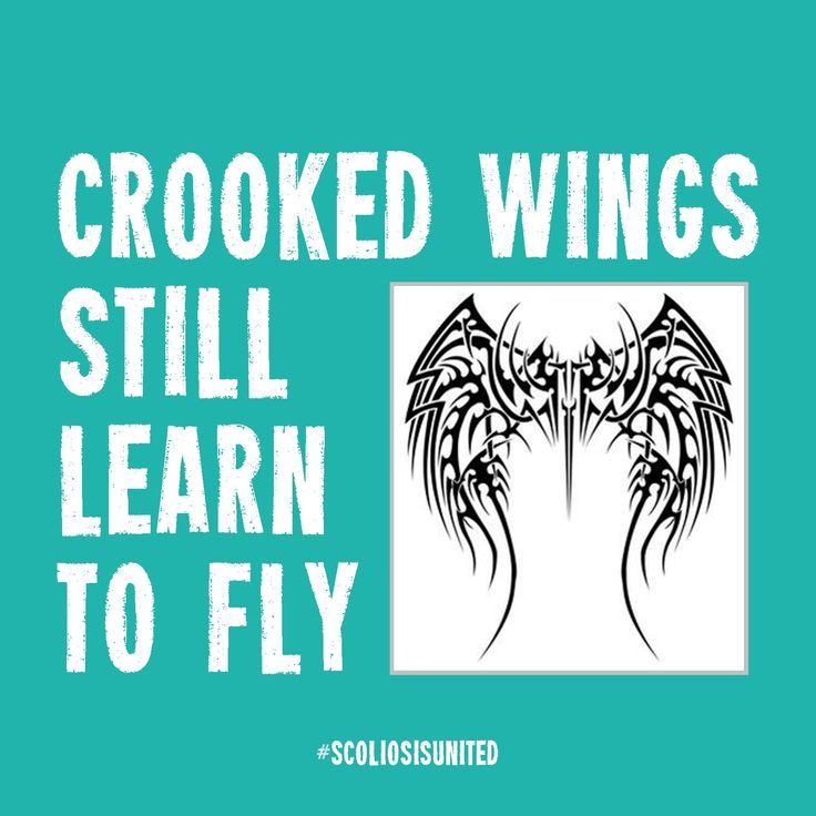 Promote #ScoliosisAwareness with #ScoliosisUnited ! #CrookedWingsStillLearnToFly #CrookedWingsStillFly #Scoliosis