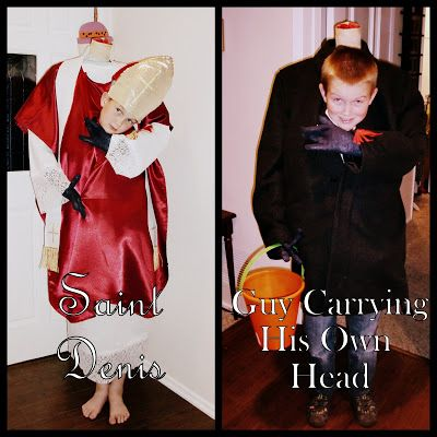 One Part Catholic, Two Parts Awesome: Costumes for All Saints Day AND Halloween (7 Quick Takes XXIX)