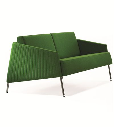 The Ress Single 2 Lounge is a modern lounge with reflections of the 60's. Inspired geometry and comfortable seating were combined in the design process. The inner metal frame construction protrudes out of the bottom of the product as the feet of the lounge #seated #ress #lounge #chairs seated.com.au