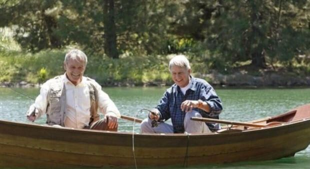 Mike Franks fishing with Gibbs (great opening to NCIS season finale) Damned if we do 10x24