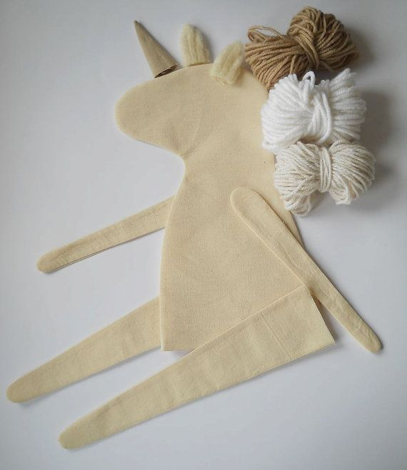 BRICOLAJE en blanco unicornio sin relleno cuerpo de la muñeca