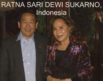 Ratna Sari Dewi Sukarno, Indonesia