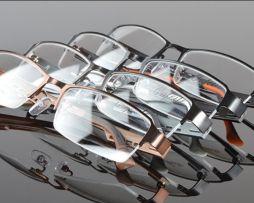 Štýlové okuliare na prácu s počítačom v čierno-pomarančovej farbe