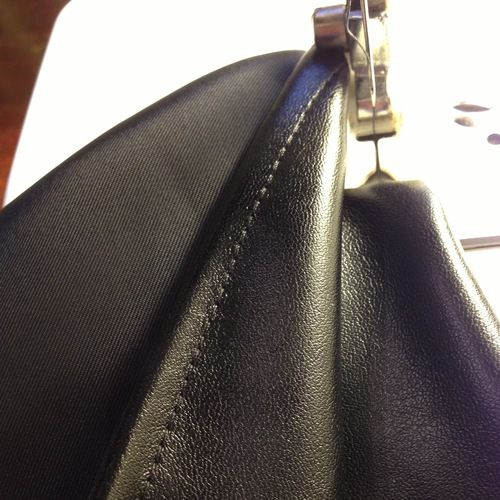 the trick to machine sewing leather