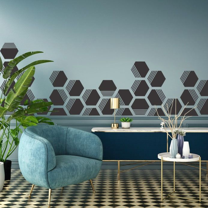 Hexagon Wall Decals Lines Wall Star Graphics Nursery Wall Decals Boutique Window Displays Nursery Wall Decor