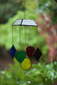 Creative Company | Classy Glass Art: Mobile of geometric shapes