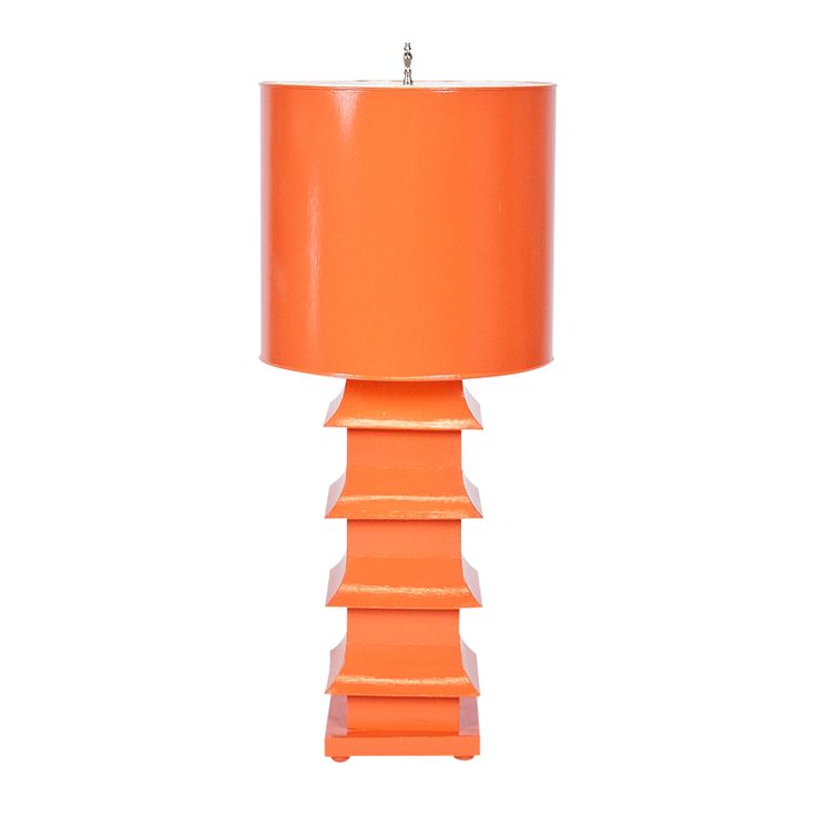 Pagoda Orange Lamp - Worlds Away - $488 - domino.com