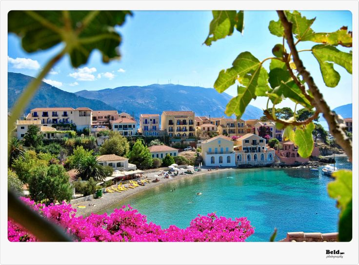 pitoresque village of Assos on Kefalonia Is.