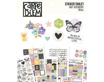 Bullet journal stickers, planner stickers a5, Bliss Sticker Tablet A5, Sticker pack, Bujo journal stickers, planner sticker pack, journaling