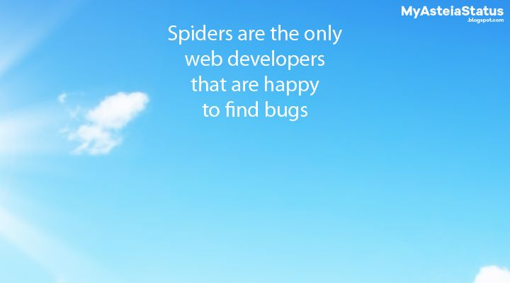 #asteia #atakes Spiders are the only web developers that are happy to find bugs