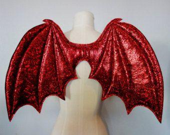 Black Dragon Wings ali costume ali del demone di MightyBunny