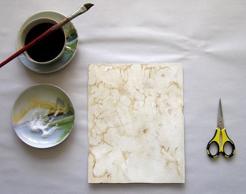 diy project: salt + coffee watercolor technique
