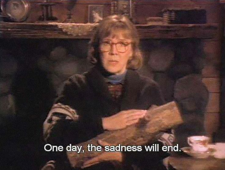 """""""One day this sadness will end"""" log lady twin peaks"""