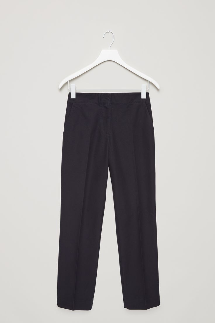 COS | Straight cotton twill trousers