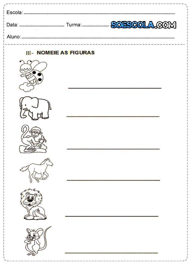 Atividades para imprimir 1º ano Ensino Fundamental - SÓ ESCOLA