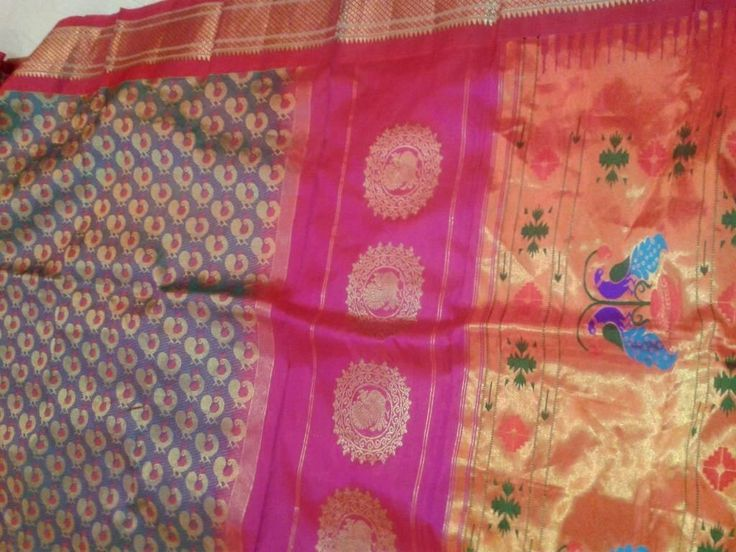 Paithani Saree with jamewari weave.