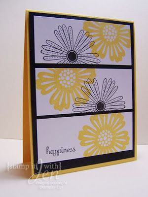 stamp it with Jen - Simple flower card using Mixed bunch stamp set from Stampin' Up!