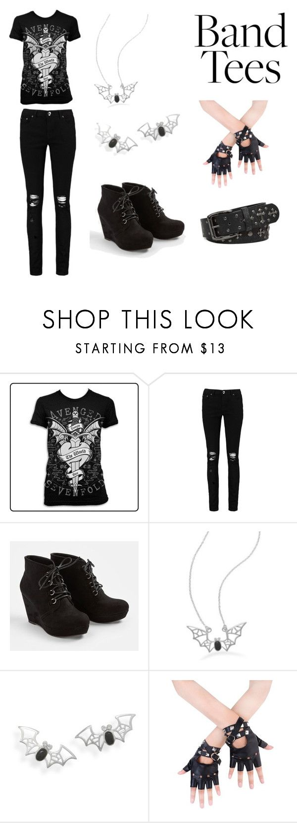 Untitled #102 by ziadvil on Polyvore featuring Boohoo, JustFab, BillyTheTree, BKE and bandtees